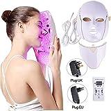 ネックマスクセット付きLEDマスクフォトンリジュビネーションスペクトル美容器具7色ライトLEDフェイシャルマスク