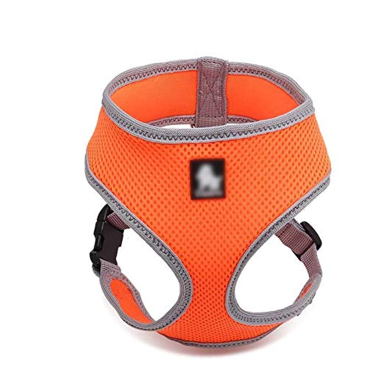 アルプス虎仮装WAKABAFK プル犬用ハーネス、着脱が簡単カラー調整可能なベスト (色 : オレンジ)