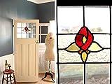 英国(イギリス)アンティーク◇ステンドグラス入りドア/ガラス扉/建具/家具(a2000121)