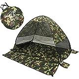 ELE テント シェルター サンシェードワンタッチ キャンプテント アウトドア 200×165cm 日よけ 3-4人用 軽量UPF50+ uvカット メッシュ 通気 キャンプ 登山 運動会 ツーリング