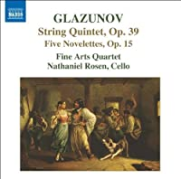 Glazunov: String Quintet; Five Nevelettes by Fine Arts Quartet (2007-03-29)