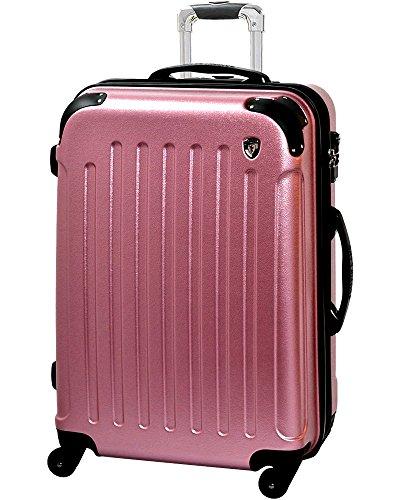 TSAロック搭載 スーツケース キャリーバッグ newFK10371 ローズ S型(2~4日用) マット加工ファスナー開閉タイプ