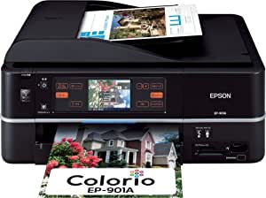 EPSON MultiPhoto Colorio 有線・無線LAN標準搭載 タッチパネル液晶 フォト複合機 6色染料インク EP-901A