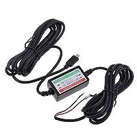 Baosity 高性能 安定性 車 DVR  充電器 ダッシュ カム アダプタ 3A適用 マイクロ USB スマート 専用 電源ボックス