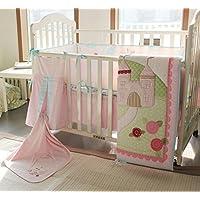Baby Girls Little Fairy Princess Castle 9pcs Crib Bedding Set [並行輸入品]