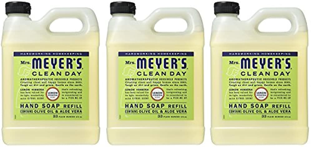 クレーン増強するアルカトラズ島Mrs. Meyers リキッドハンドソープ レモン Verbena 2 Refill (Lemon Verbena)