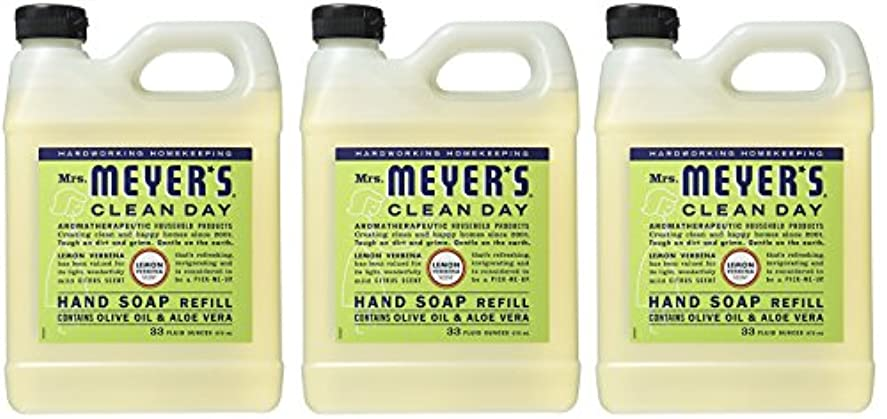 ジーンズ貧しい着陸Mrs. Meyers リキッドハンドソープ レモン Verbena 2 Refill (Lemon Verbena)