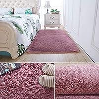 カーペット ベルベット 無地 100*200 ネクタイ染色 厚手 シャギー 洗える 四季適用 防ダニ 抗菌 防臭 低反発 遮音 滑り止め ずれにくい 耐久性 手触りよく ふわふわ 床暖房対応 床保護マット 絨毯 ベッドサイド かわいい