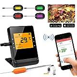 BBQ 肉用温度計 ベースキャンプ Bluetooth BBQ グリル温度計 APP リモートモニター BBQ温度計 料理用 喫煙 キッチン オーブン BACP-MT-4
