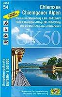 Chiemsee - Chiemgauer Alpen 1 : 50 000 (UK50-54): Traunstein, Wasserburg a.Inn, Bad Endorf, Prien a.Chiemsee, Haag i.OB, Ruhpolding, Reit im Winkl, Simssee, Kaiserwinkl, Schloss Herrenchiemsee, Uebersee, Kampenwand, Aschau i.Chiemgau, Garching a.d.Alz, Klosterseeon