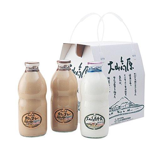 大山高原ギフトミルクBセット 大山高原牛乳 カフェオレセット (熨斗無)