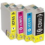 PX-1700F 対応 エプソン EPSON IC4CL6165(BK61+CMY65)(4色セット)汎用インク 互換インク
