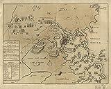マップ: 1775Aの計画の町とHarbourボストンの国の隣接するwith the roadからBoston toコンコード、shewing the place of the Late婚約の間の王のTroops & The Provincials、