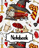 Notebook: College Ruled Notebook Potterhead Series Movie Comic Non Science Soft Glossy with Ruled Lined Paper for Taking Notes Writing Workbook for Teens and Children Students School Kids Inexpensive Gift For Boys and Girls Potterhead
