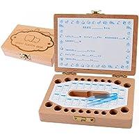 【SIMPS】 乳歯ケース 木製 プレミアムボックス 赤ちゃん用 記念 トゥースボックス 乳歯ボックス 名前と抜けた日シール付き