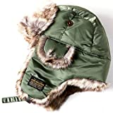 ALPHA INDUSTRIES Inc (アルファインダストリーズ) MA-1 ミリタリー フライト キャップ パイロットキャップ ニット帽 帽子 ファー 耳あ..