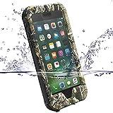 【ZVE】iPhone7ケース 完全防水ケース IP68 アイフォン7 ケース 4.7インチ スマホケース 防塵 防雪 耐衝撃カバ ー ストラップ付き 衝撃吸収 指紋認識可 迷彩柄 本体液晶保護フィルム付き(枝迷彩) (¥ 2,498)