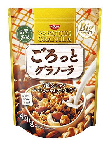 日清シスコ ごろっとグラノーラ 3種のナッツ キャラメルマキアート仕立て 450g