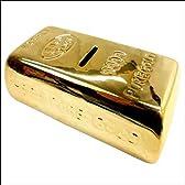 金塊レプリカ ゴールドバー貯金箱 HB-191【金の延べ棒】【コインバンク】