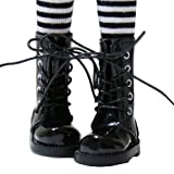 【全6色】ブライス Blythe 1/6 ドール 靴 編み上げブーツ ロングブーツ 黒色 momoko ジェニー リカちゃん プーリップなどに GCL1-256