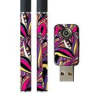 スマコレ プルームテック ploom tech バッテリー スティック 専用スキンシール USB充電器 カバー ケース 保護 フィルム タバコ アート 模様 カラフル 010622