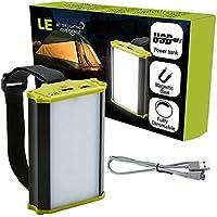 LE 充電式LEDランタン 4400mAh内蔵バッテリー 調光 330ルーメン マグネット型 キャンプ アウトドア 釣り テント 緊急用