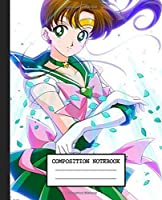 Notebook: Anime Japan Sailor Moon Soft Glossy Cover Graph Paper Pages Book 7.5 x 9.25 Inches 110 Pages