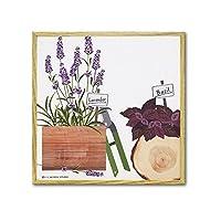 絵画 絵 壁掛け 植物 グリーン ナチュラル モダン キャンバスアート ハーブコレクション ラベンダーアンドバジル YP-02027