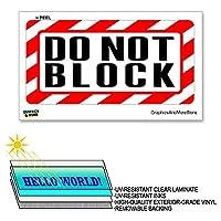 ×6で12 - - ブロックしないラミネート符号警告は警告しまするビジネスストアステッカー