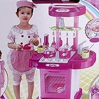 Tivolii 多機能 子供遊び おもちゃ 女の子 ベビートイ 大型 キッチン 料理 シミュレーション テーブル モデル 道具 おもちゃ ピンク Tivolii