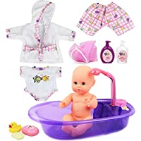 [ N ' Play新生児ベビー人形Bath Time Playセットwithアクセサリー。