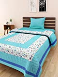 Multi Color 100% Pure Cotton Single Bed Sheet Elegant Design For Bedding or Decoratuve (Jaipuri Bed