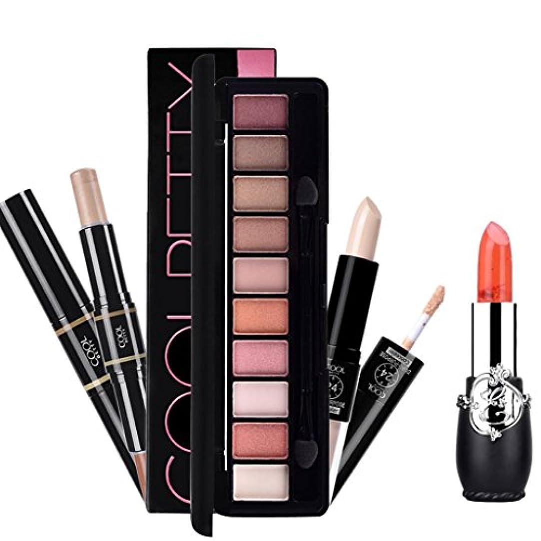 機密混合雇ったToygogo 化粧品セット メイクアップ 口紅 コンシーラー アイシャドウ ハイライト 化粧品 全4色選べる - 03