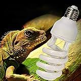 OUYAWEI Energy Saving UVB Lamp Bulb for Reptile Tortoise Lizard Snake 220-240V White UVB10.0 (Power 26w)