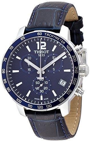 [ティソ] TISSOT 腕時計 クイックスター クオーツ クロノグラフ ブルー文字盤 レザー T0954171604700 メンズ 【正規輸入品】