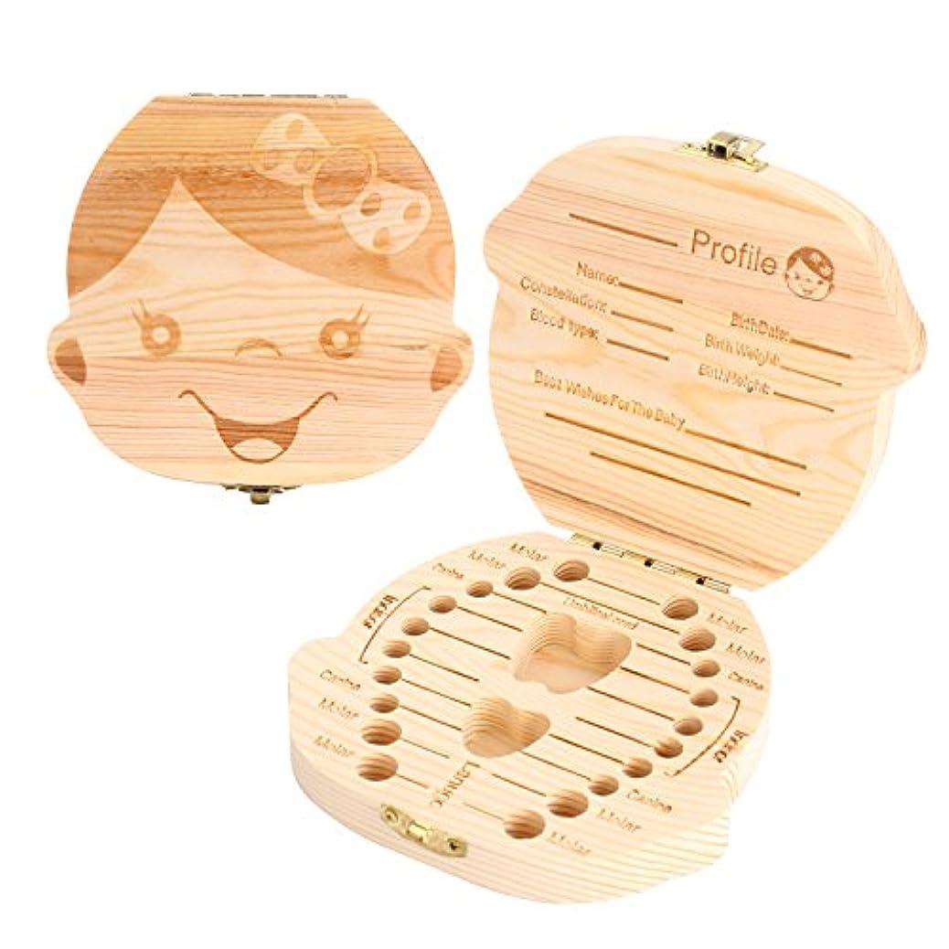 取得する許可柱moinkerin ベビー歯ボックス木製赤ちゃん成長記録ツール赤ちゃん成長記念品ベビーギフトgirl