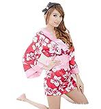Amazon.co.jp(R-Dream) セクシー 和服 コスプレ 着物 浴衣 和服 花魁 衣装 ルームウェアや余興イベントに 選べる5種類 (タイプD)