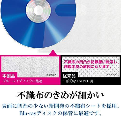 『エレコム DVD CDケース 不織布 両面収納 2穴付 120枚入 240枚収納可 5色アソート CCD-NBWB240ASO』の1枚目の画像