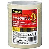 3M スリーエム スコッチ 透明粘着テープ 10巻 12mm×50m 芯76mm 500-3-12-10P