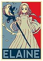"""ポスターSeven Deadly Sins """" Propaganda """" Elaine–a3( 42x 30cm )"""