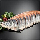サーモン専門店岩松 北海道産 新巻鮭(秋鮭)一本物【姿切り約3キロ】化粧箱入