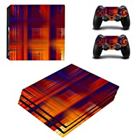 Zhhlinyuan 安定した品質 Skin Sticker Vinyl ステッカー Cover for PlayStatio PS4 Pro Console+Controllers 0115