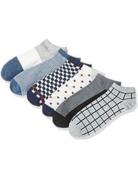 (ハルサク) HARUSAKU ショートソックス メンズ くるぶし カジュアル 靴下 ソックス 25~29 cm セット