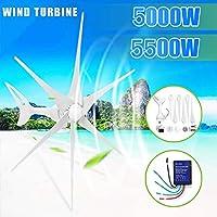 12 / 24V風力タービン発電機5500W / 5000Wホーム街灯+コントローラの3/6風のブレード・オプション・ウィンドコントローラギフトフィット (Voltage : 12V)