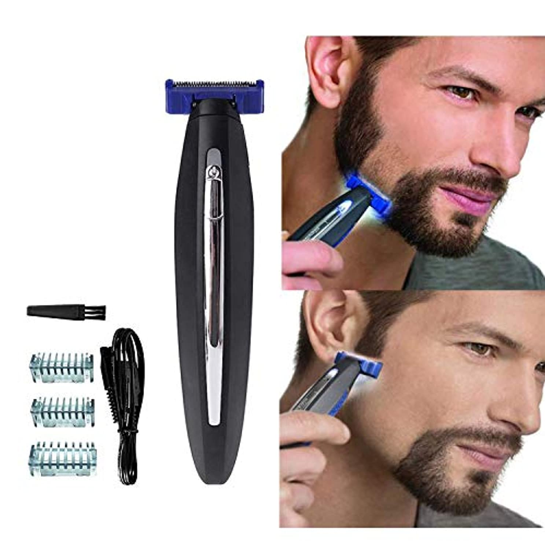 市民インサートそばに男性のための電気かみそり、髪のクリーニングシェーバートリマーと防水スマートかみそり、男性のための眉毛のひげのフェイシャルとボディヘアーのための毛の除去剤, black