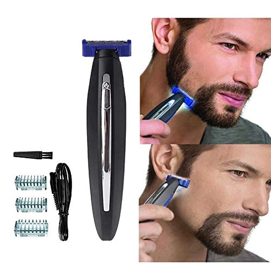 出版無一文仲人男性のための電気かみそり、髪のクリーニングシェーバートリマーと防水スマートかみそり、男性のための眉毛のひげのフェイシャルとボディヘアーのための毛の除去剤, black