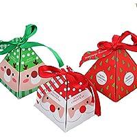 クリスマスの飾りメリークリスマスのキャンデーボックスバッグクリスマスツリーのギフトボックスベルのペーパーボックスギフトバッグコンテナの供給15 PCS/セット