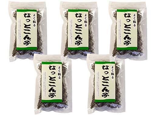 よく粘るなっとこんぶ 55g×5袋 (北海道産刻みねこ足昆布) 漬け物や煮物に最適な細切り猫足コンブ (きざみ納豆昆布)