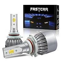 FASTCAR 3色切り替え 9006 LED ヘッドライト 通常点灯(6000k/3000k/4500k)・カラーチェンジ led フォグランプ DC12V 24V対応 2個セット 一年保証付き
