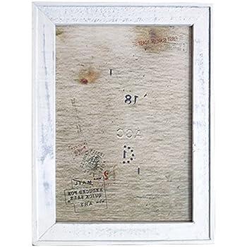 クレエ 額縁 オールドウッド フレーム L ホワイト 中紙サイズ:A4(W29.6×H21cm) 91000091